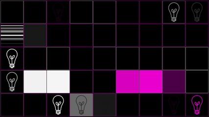 движение лампочек