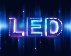 Light-emitting diode (LED) - sign with beam