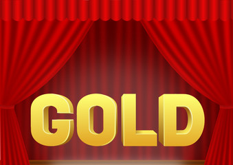 roter Vorhang Gold