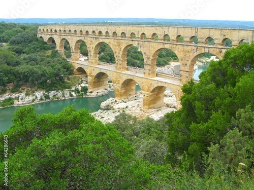 Leinwanddruck Bild Pont du Gard, France