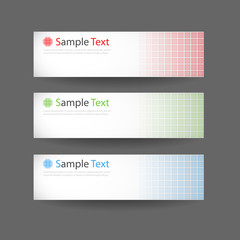 Three abstract banner headers vector eps10