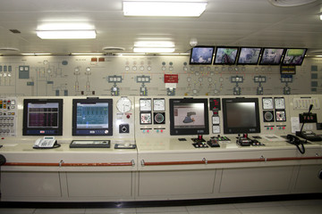 Control Room for Ships Engines