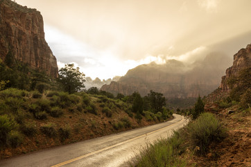 Fog in Zion Canyon