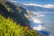 Leinwanddruck Bild - northern coast near Boaventura, Madeira island, Portugal