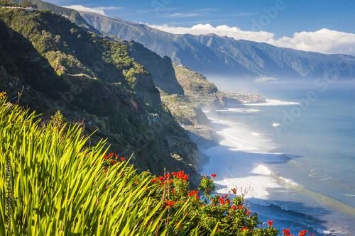 Leinwanddruck Bild northern coast near Boaventura, Madeira island, Portugal