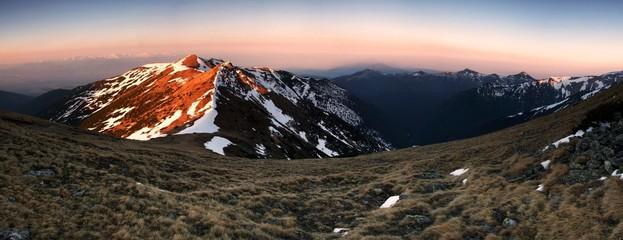 Sunrise in Western Tatras, Slovakia