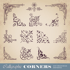 Calligraphic corners and decorative elements