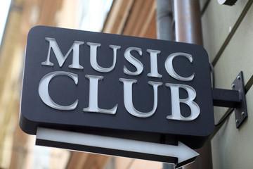 Music club signboard
