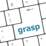 Computer keyboard button with grasp button poster