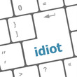 idiot word on computer pc keyboard key
