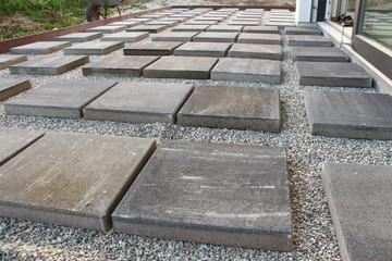 baustelle terrasse bauen platten verlegen III