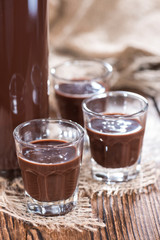 Glass with Chocolate Liqueur