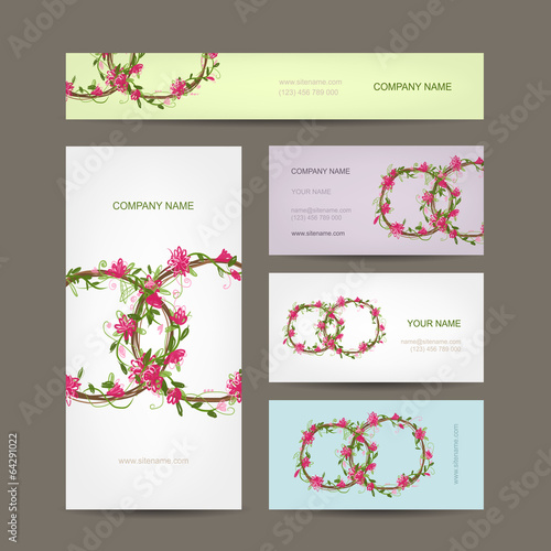 Business cards collection, wedding design