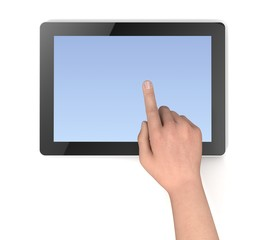 touching tablet