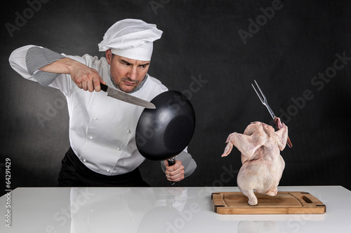 Chef fighting - 64291429