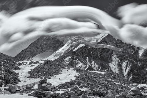Cloud Over Cho Oyu (B&W)