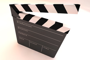 Film Slate Clapper 3D Illustration