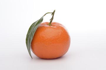 Ripe sweet tangerine, isolated on white