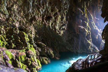 "Cave called ""Gruta Iris""  in the Monasterio de piedra.Zaragoza.S"