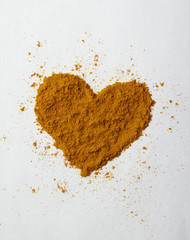Turmeric powder heart