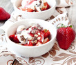 Strawberries with Cream Dessert
