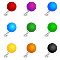 Round pushpin set