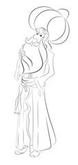 Çizgisel Karakter illüstrasyon Nasreddin Hoca