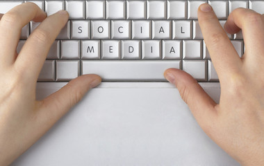 Social Media spelled out on a computer keyboard