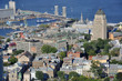 Port of Quebec and St Lawrence River Aerial view, Quebec City
