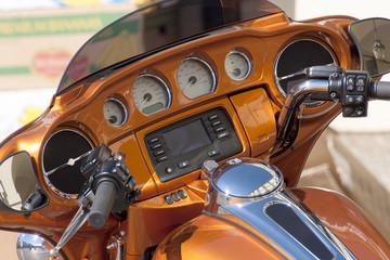 Motorcycle dashboard in detail