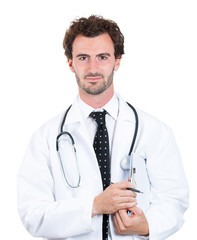 Kind healthcare professional. Confident male doctor