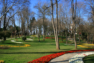 Khedive Palace's Garden in Istanbul