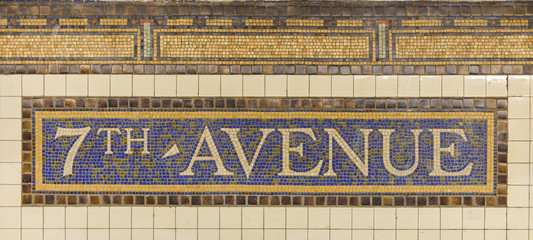 Seventh Avenue Station Subway Sign