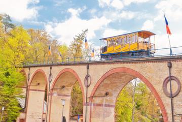 Historische Nerobergbahn in Landeshauptstadt Wiesbaden