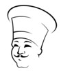 Doodle sketch of a chef in a toque