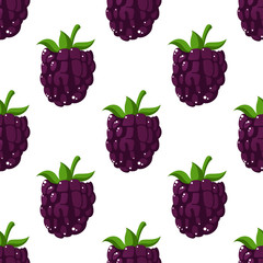 Blackberries seamless pattern