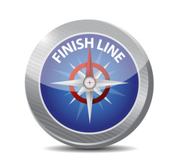 finish line compass illustration design