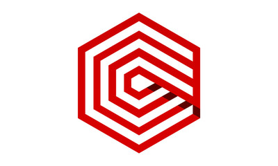 Design hexagon  logo