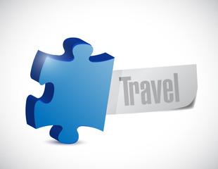 puzzle travel sign illustration design