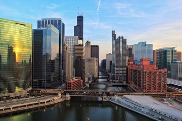 Chicago River from above