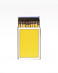 Isolated matches box on white background