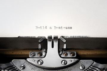 """Build a Business"" written on an old typewriter"