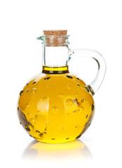 Vintage olive oil bottle