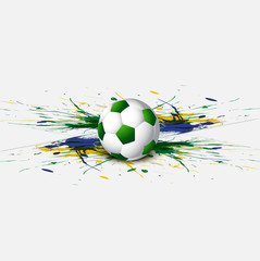 Beautiful Brazil flag concept grunge card colorful Soccer backgr