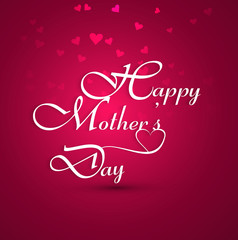 Beautiful card colorful happy mother's day text background vecto