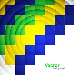 Beautiful Brazil flag concept colorful geometric texture backgro
