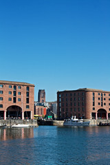 Albert Dock and Angkican Cathedral  Liverpool UK