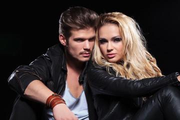 portrait of a serious couple