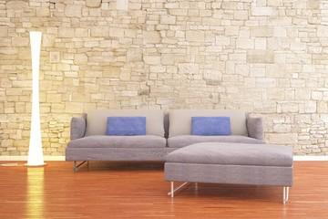 Lampada e divano