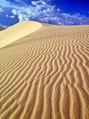 Desert Arid Vertical Landscape, White Sand Dunes, Vietnam